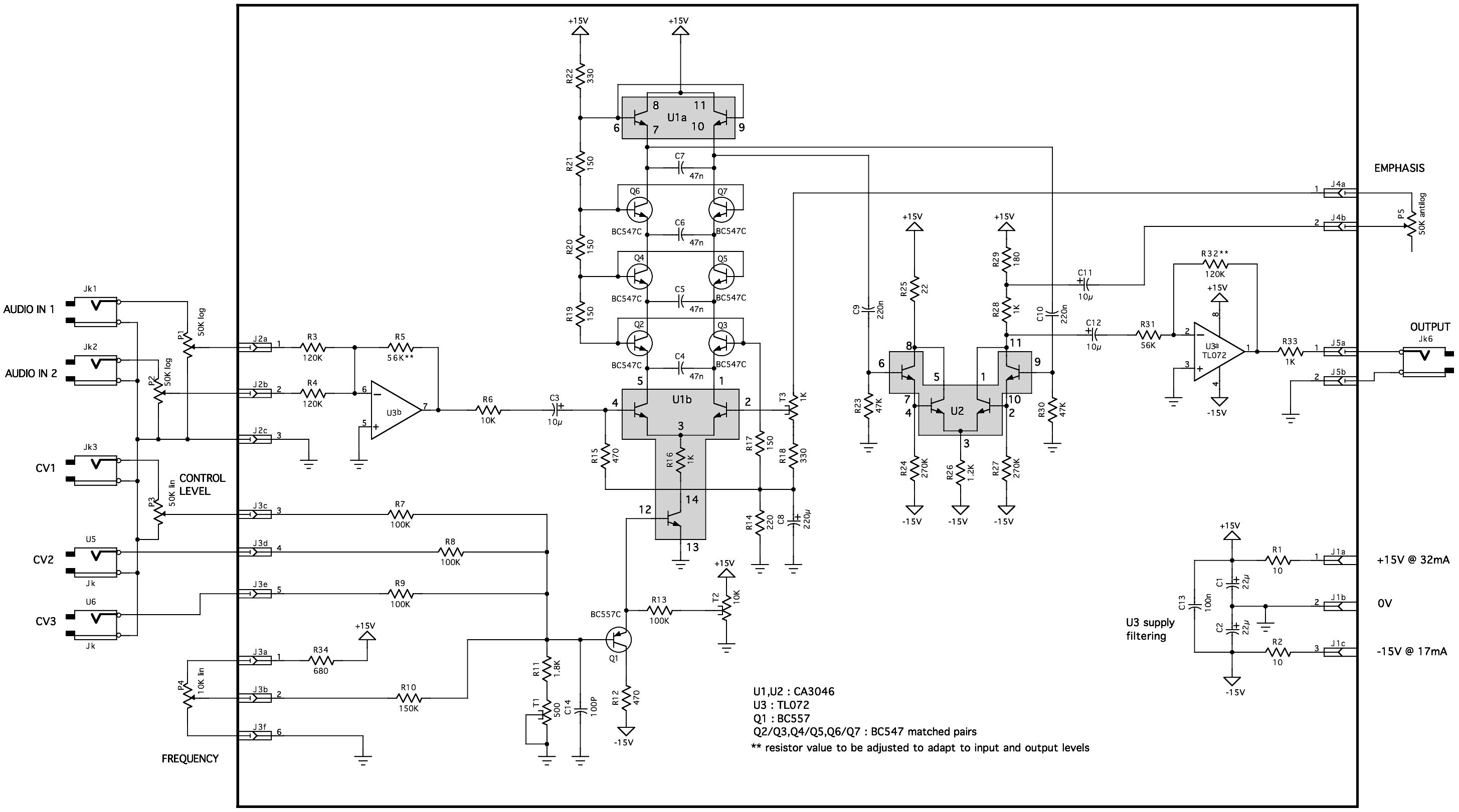 Envelope Follower Schematic Minimoog Vcf Clone